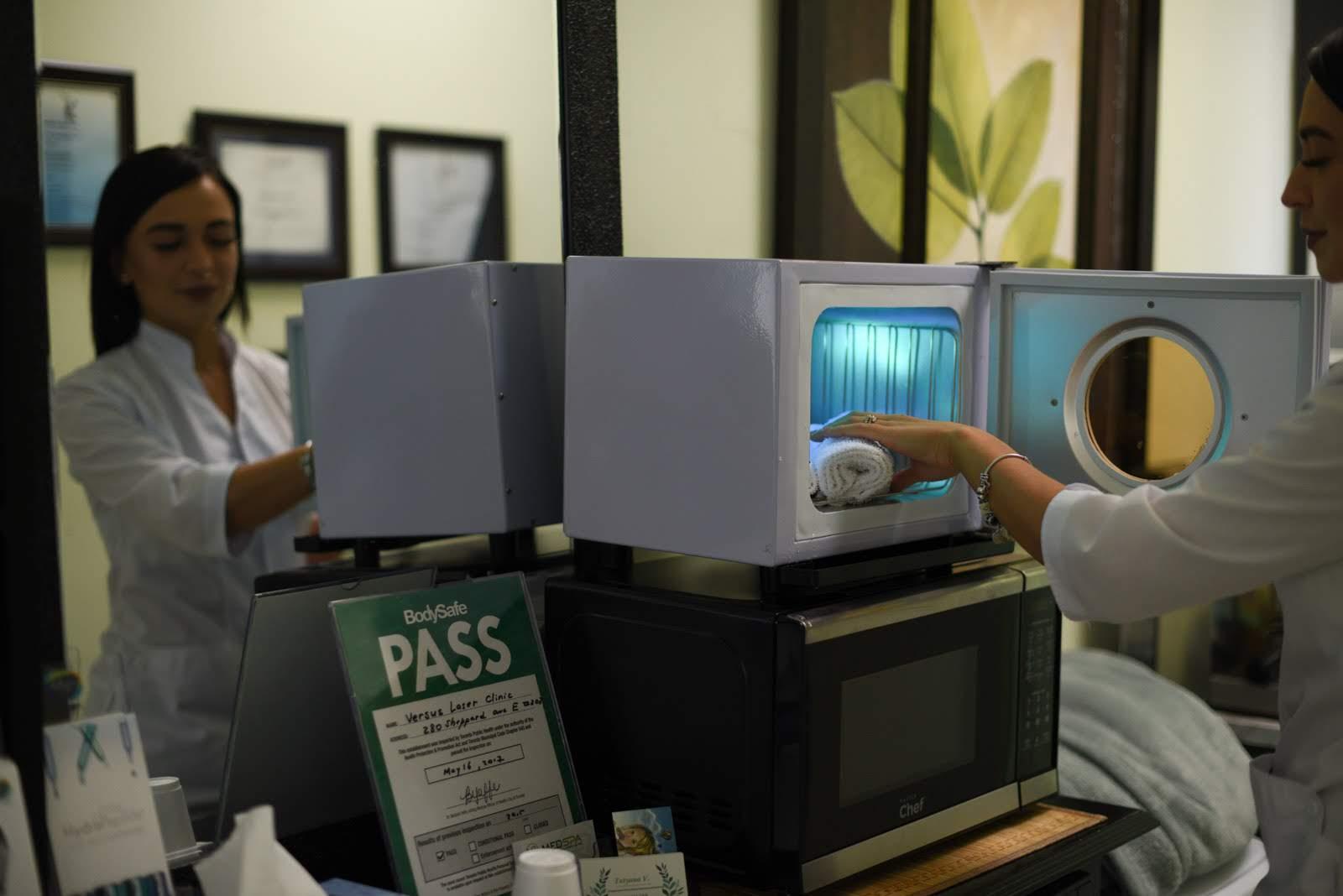 vs medspa laser clinic routine