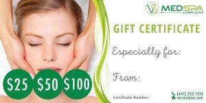 MedSpa Gift Certificate