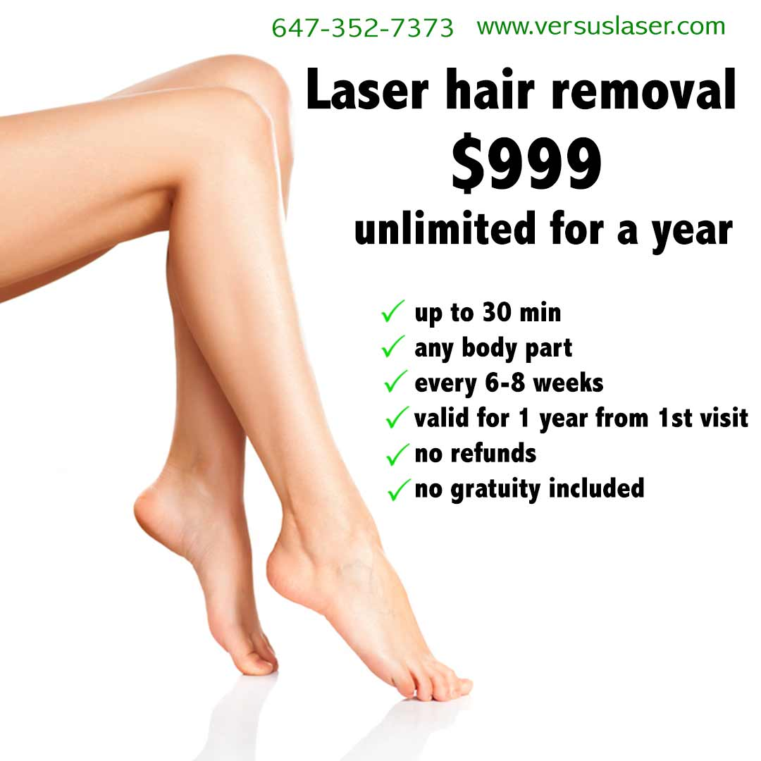 laser hair removal unlimited pack 1 year