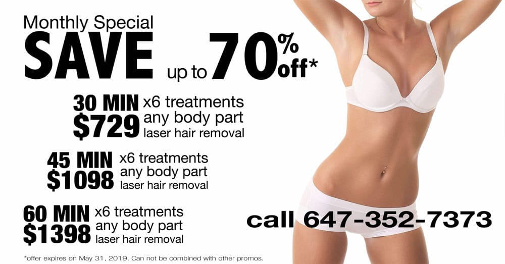 Super saving packages laser hair removal