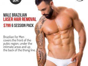 Brazilian for men laser hair removal pack