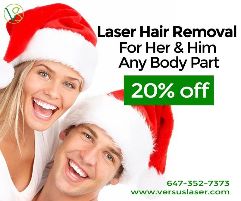 vs med spa laser clinic Christmas promotion laser hair removal