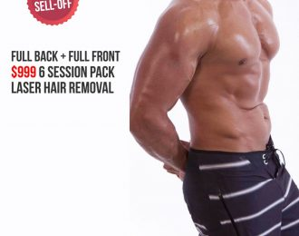 Full Back and Full Front Laser Hair Removal Package for Men