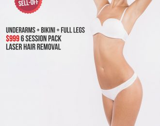 Underarms Bikini Full Legs Laser Hair Removal Package