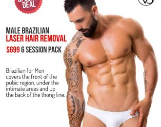 Male Brazilian Laser Hair Removal Package