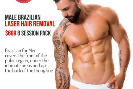 Brazilian for men laser hair removal pack