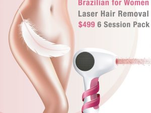 Brazilian for women laser hair removal pack