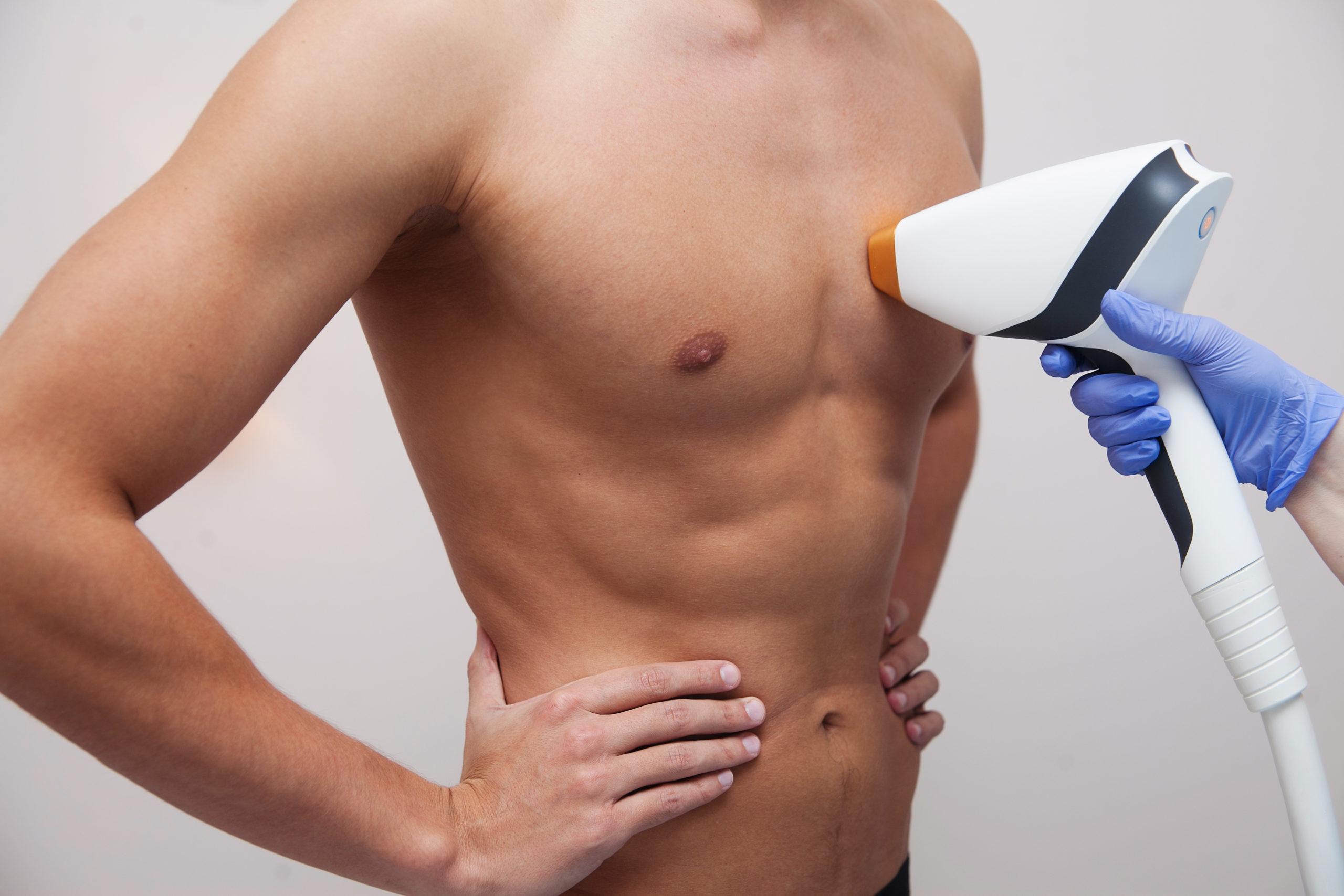 man skin epilation depilation