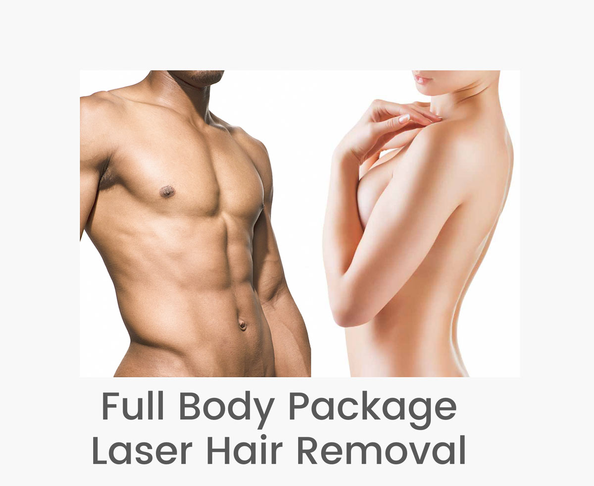 Full body laser hair removal services