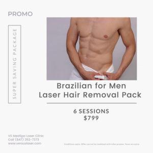Brazilian for men laser hair removal