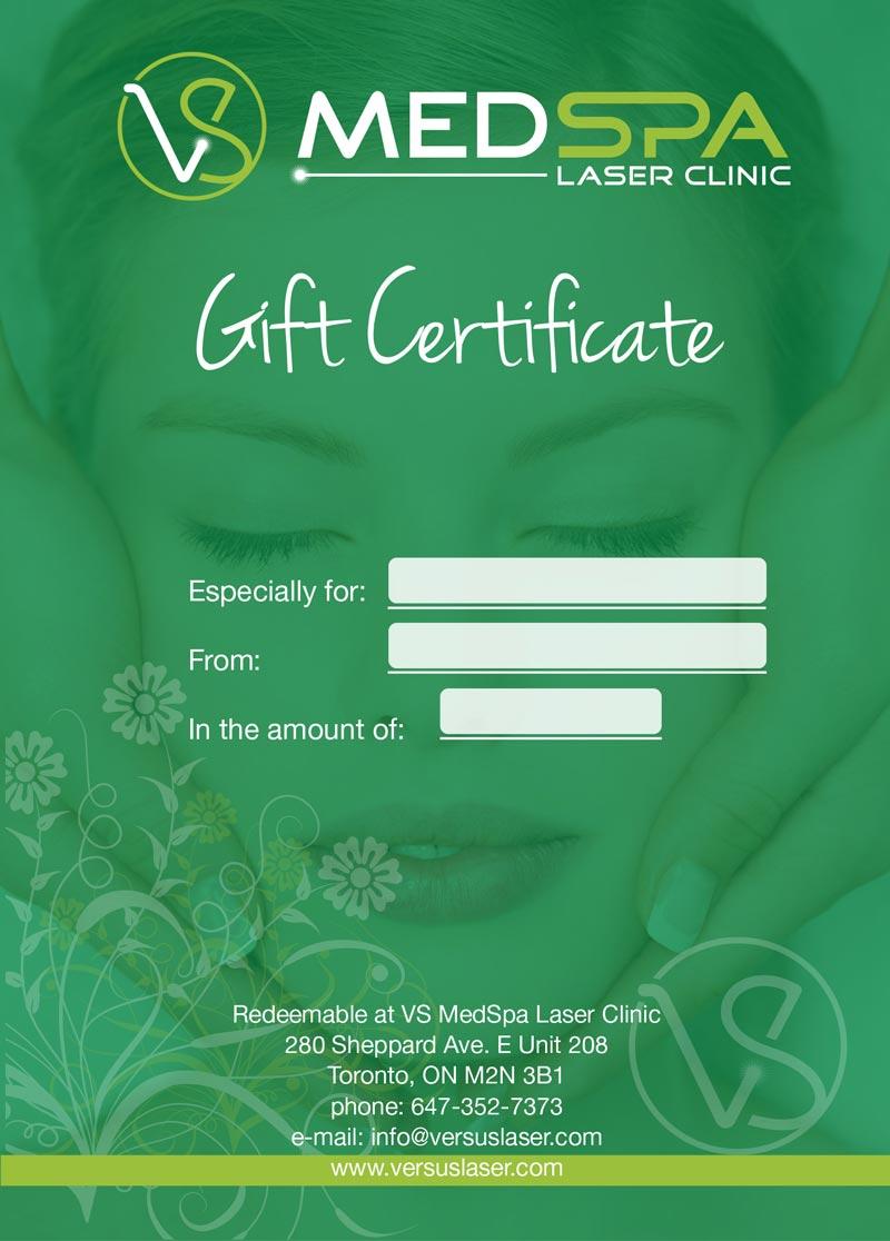 Gift Certificate med spa