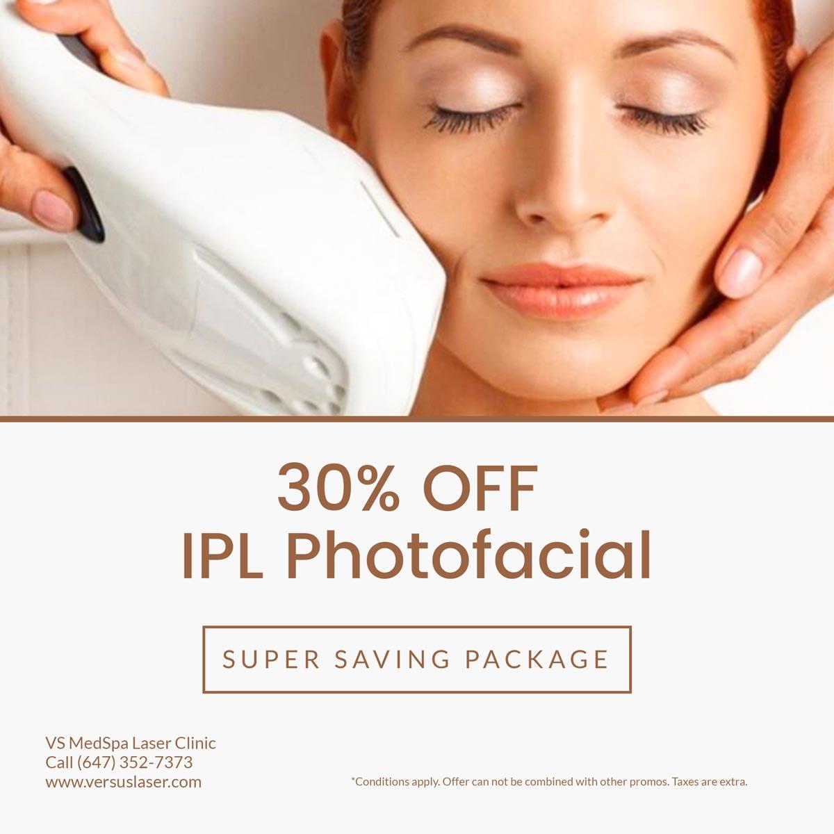 IPL Photorejuvenation treatment special sale
