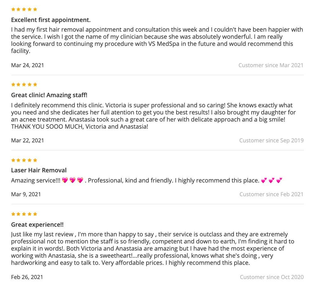 reviews vs medspa