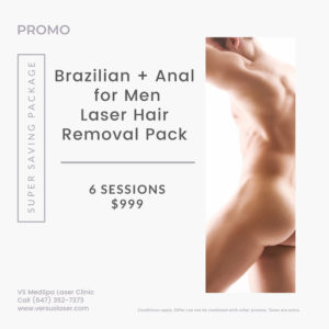 Brazilian and anal for men laser hair removal package