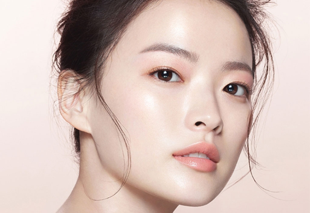 glass-skin Korean beauty