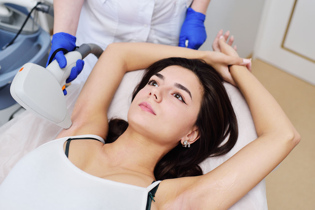 underarm laser hair removal for women