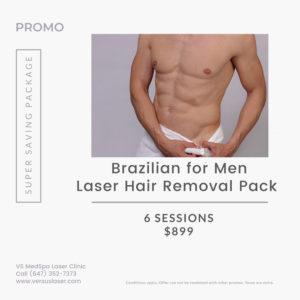 Brazilian for men package July 2021